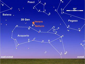 Calendario astronomico, 28 gennaio 2020: Luna, Venere e Nettuno al tramonto